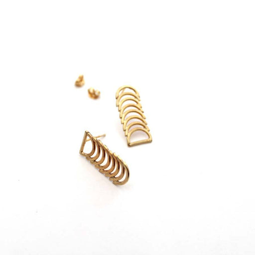 Buy 'Cadence Studs (Gold)' handmade jewellery by Caitlin Hegney at The Biscuit Factory, Newcastle upon Tyne.