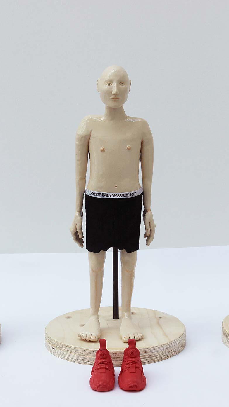 Buy 'Immature Isaac' part of the If the shoe fits series, original sculpture by Millie Suu-Kyi at The Biscuit Factory. Winner of the Contemporary Young Artist Award 2020.