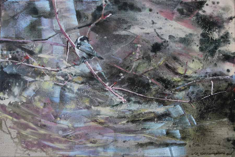 Buy 'Coal Tit', an original painting by James Fotheringhame at The Biscuit Factory, Newcastle Upon Tyne.