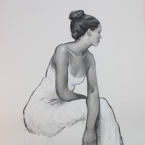 Buy 'Contemplation I' an original charcoal drawing by India Amos at The Biscuit Factory, Newcastle Upon Tyne.