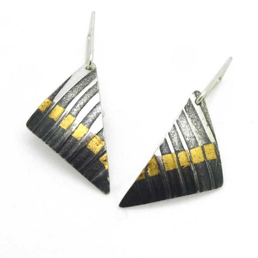 Buy 'Triangular Drops' handmade jewellery by Jessica Briggs at The Biscuit Factory.