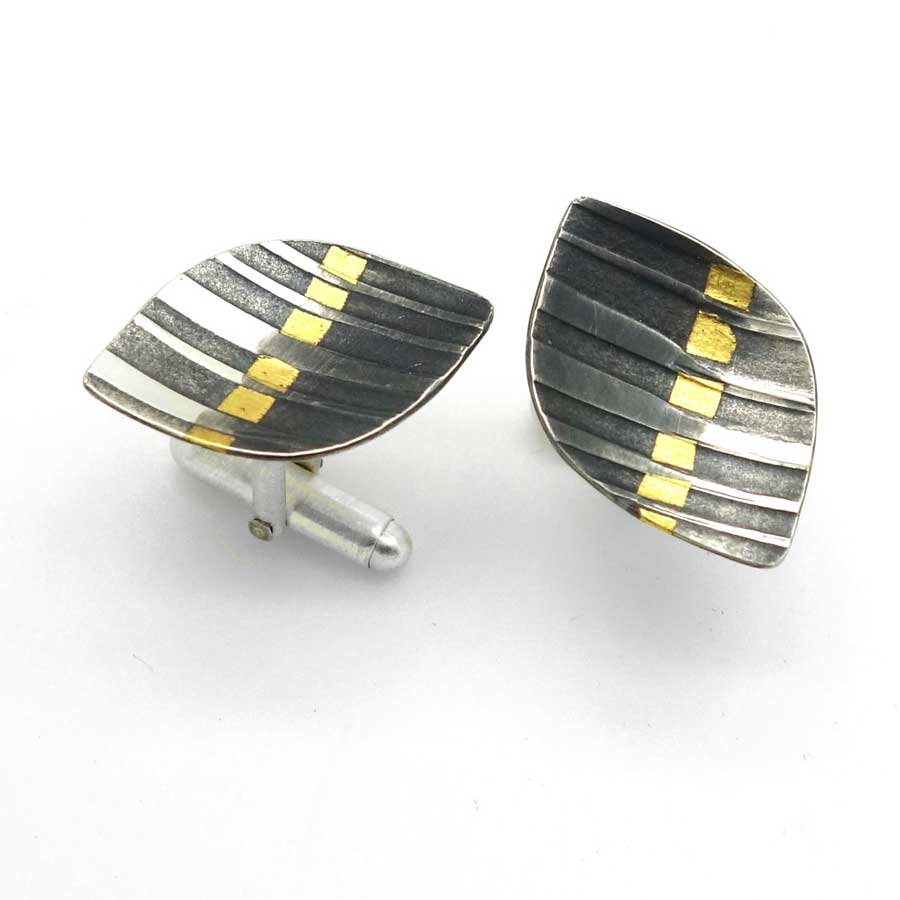 Buy 'Rhythm Cufflinks' handmade jewellery by Jessica Briggs at The Biscuit Factory.