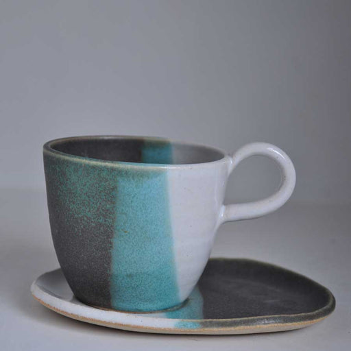 Buy 'Cup and Saucer' handmade ceramic homeware by 4 Wheel at The Biscuit Factory, Newcastle upon Tyne.