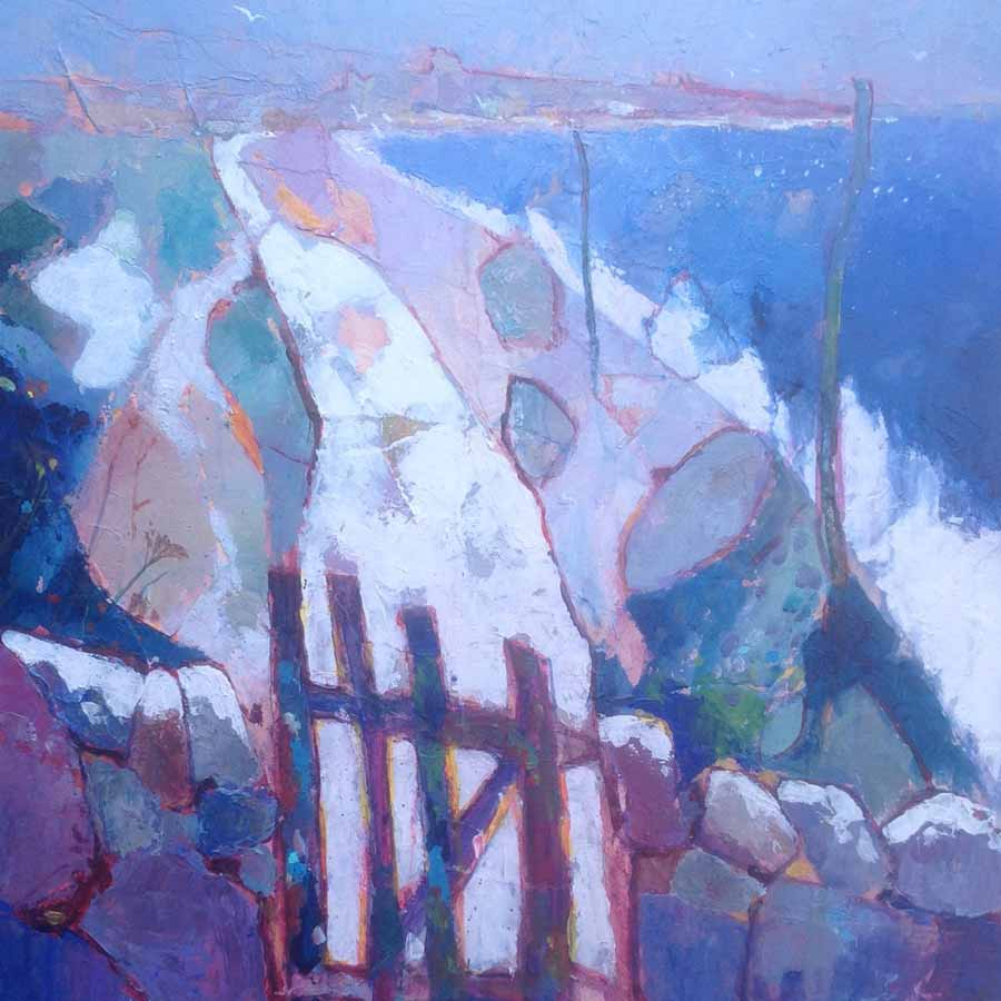 Buy 'Dunstanburgh Winter Gate', an original painting by British artist Anthony Marshall at The Biscuit Factory, Newcastle upon Tyne.