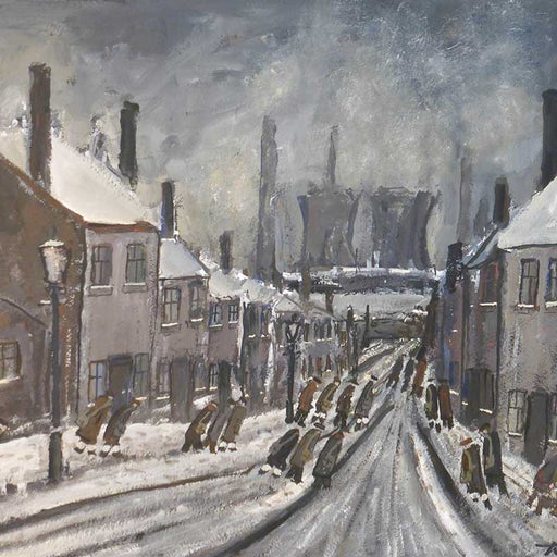 Original painting by Malcolm Teasdale at The Biscuit Factory.