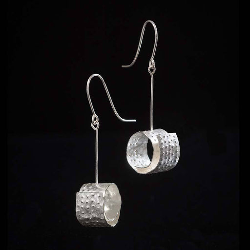 Buy 'Dimple Spiral Earrings' handmade jewellery by Hilary Brown at The Biscuit Factory, Newcastle upon Tyne.