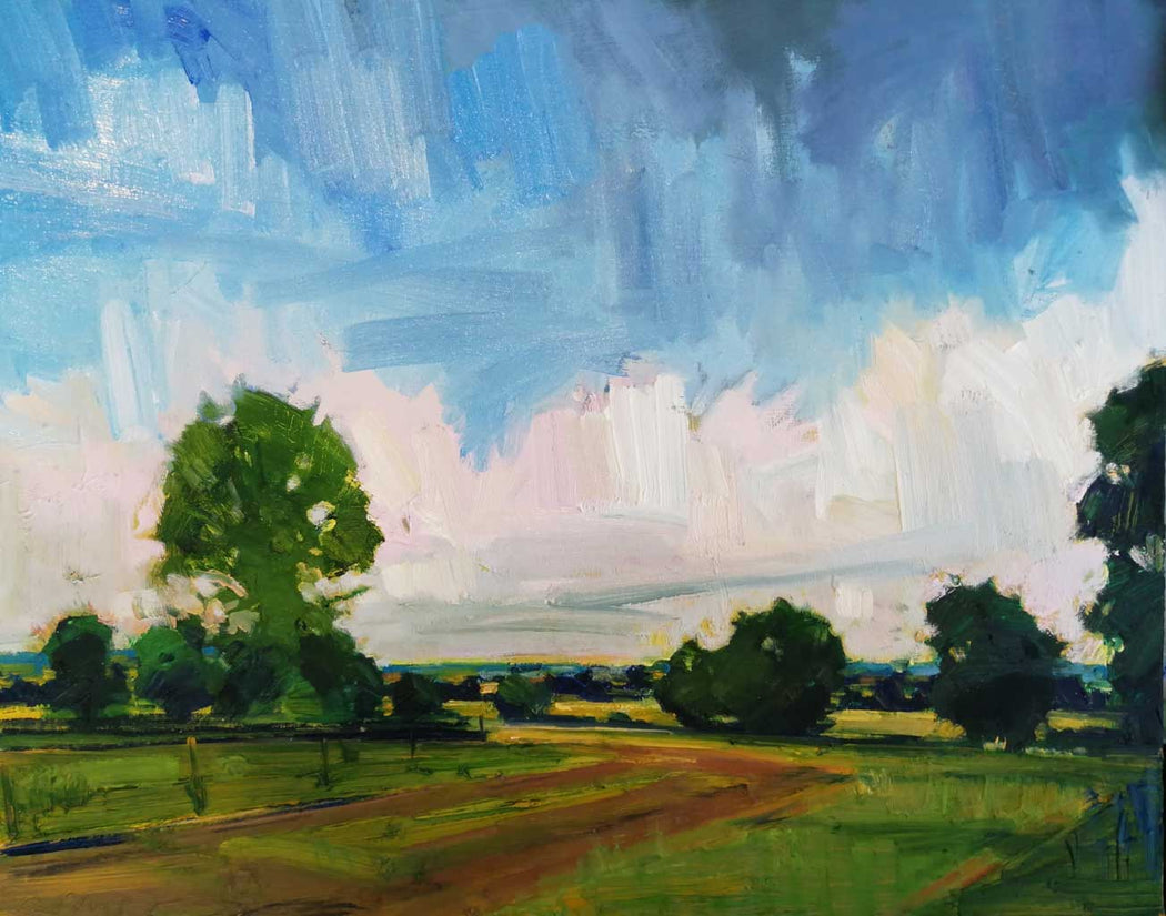Buy 'Cloud Building on a Summer's Saunter', an original painting by Emerson Mayes at The Biscuit Factory