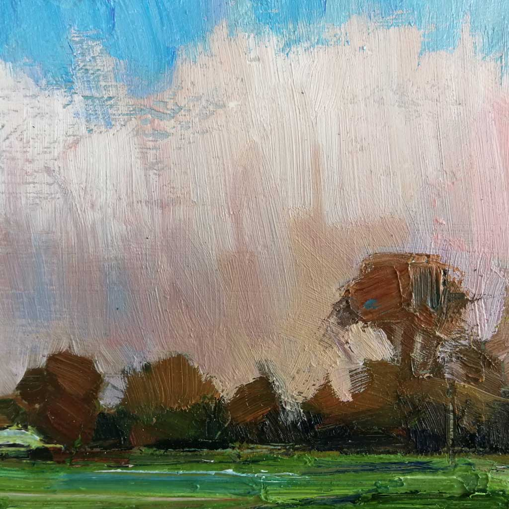 Buy 'The Perfect Winter's Day' an original oil painting by Emerson Mayes at The Biscuit Factory