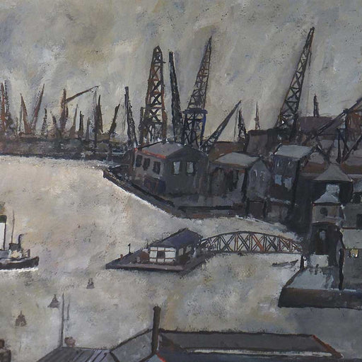 Buy 'Ferry Across the Tyne', an original painting by Malcolm Teasdale at The Biscuit Factory.