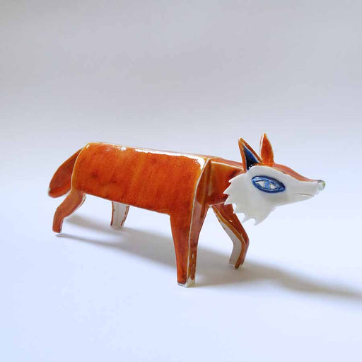 Buy 'Fox', an original handmade ceramic by Tristan Lathey at The Biscuit Factory.