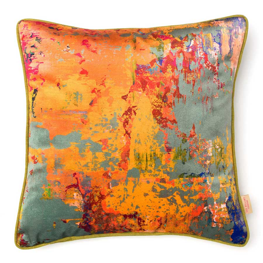 Buy 'Grey Stucco' an original printed cushion by textile artist Susi Bellamy, at The Biscuit Factory.