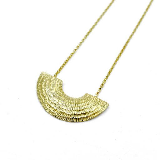 Buy 'Gibbous Pendant (Gold)' handmade jewellery by Caitlin Hegney at The Biscuit Factory, Newcastle upon Tyne.