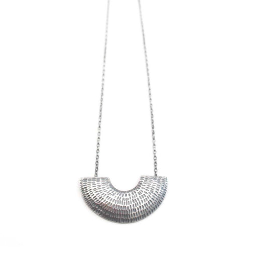 Buy 'Gibbous Pendant (Oxidised silver)' handmade jewellery by Caitlin Hegney at The Biscuit Factory, Newcastle upon Tyne.