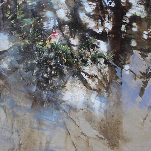 Buy 'Goldfinch, yew', an original painting by James Fotheringhame at The Biscuit Factory, Newcastle Upon Tyne.