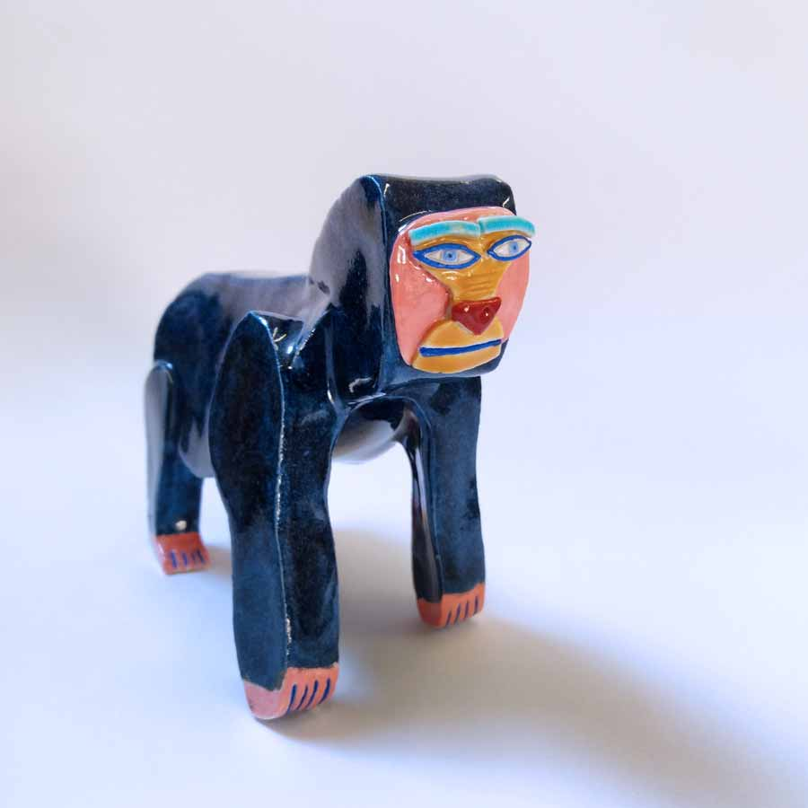 Buy 'Gorilla', an original handmade ceramic by Tristan Lathey at The Biscuit Factory.