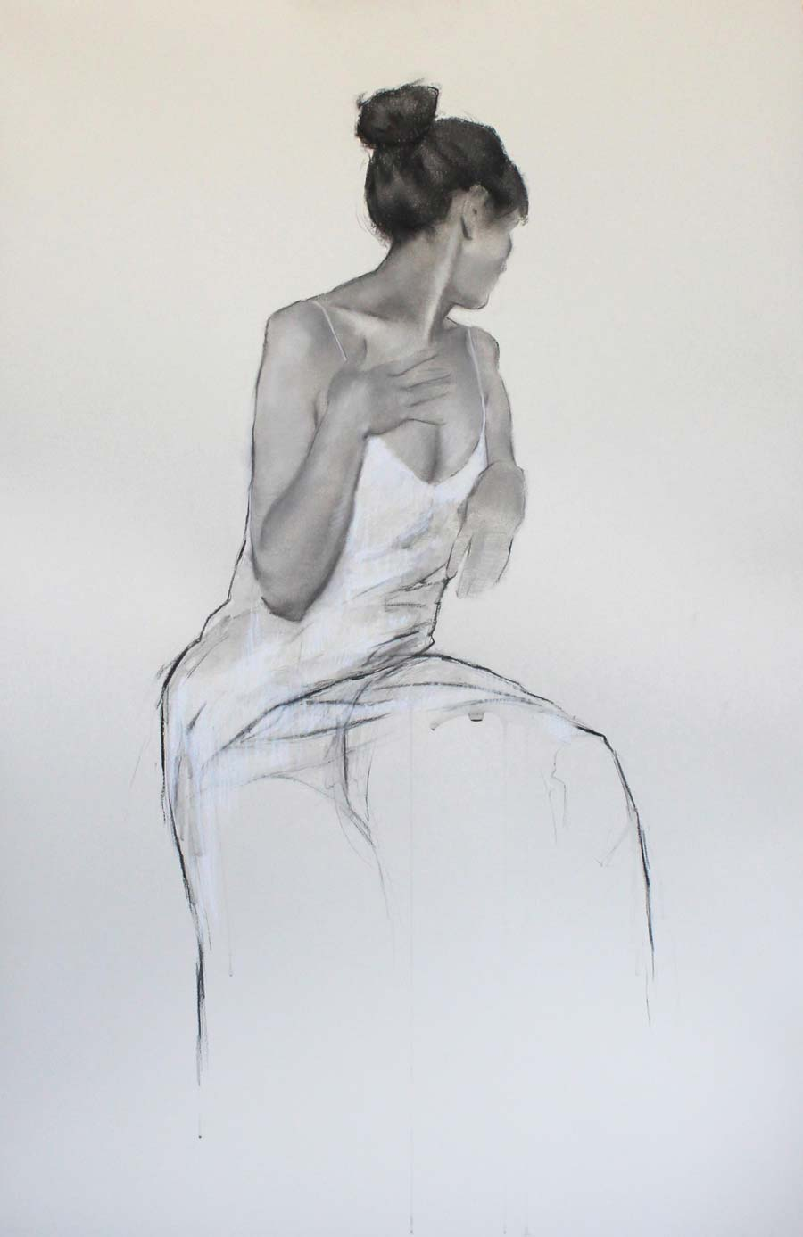 Buy 'Grace' an original charcoal drawing by India Amos at The Biscuit Factory, Newcastle Upon Tyne.