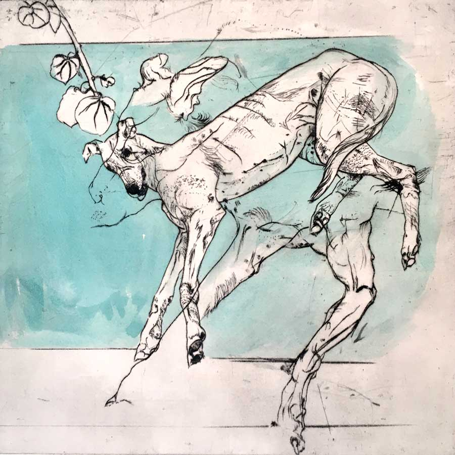 Buy 'Greyhound Study' an original print by Mike Moor at The Biscuit Factory, Newcastle upon Tyne.