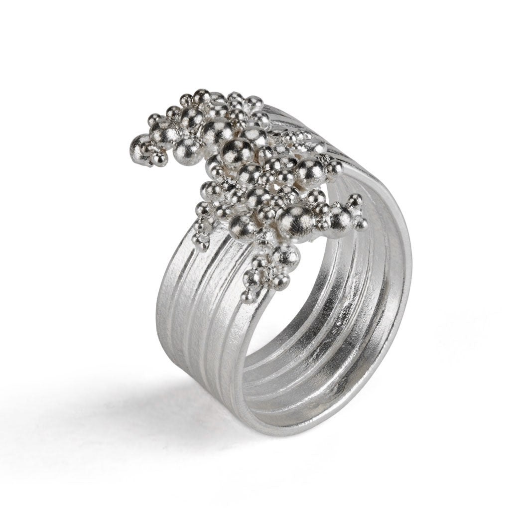 Buy 'Whorl Ring', handmade jewellery by Hannah Bedford at The Biscuit Factory.
