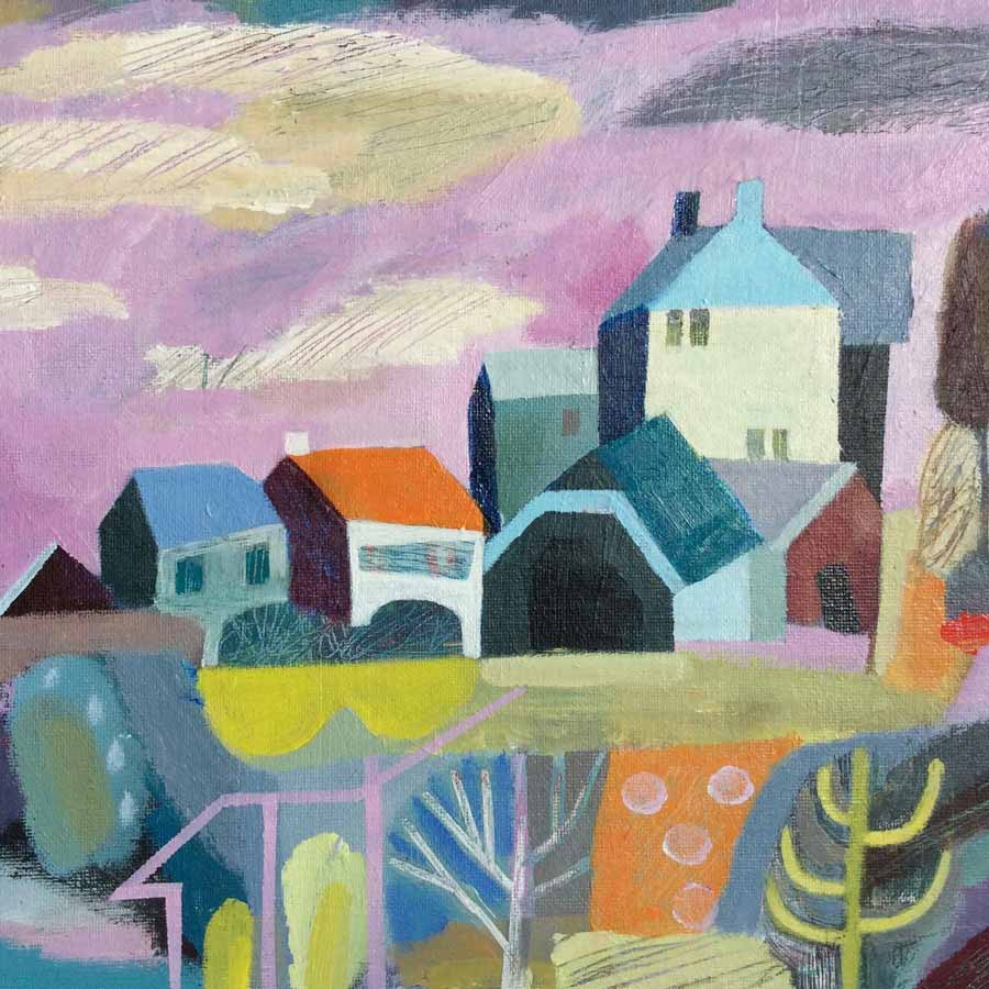 Buy 'Heysham Houses', an original painting by Michael St. Clair at The Biscuit Factory.