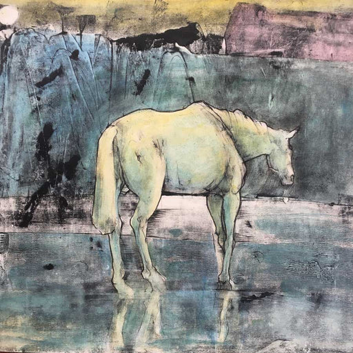 Buy 'Horse in a Calm Stream' an original print by Mike Moor at The Biscuit Factory, Newcastle upon Tyne.