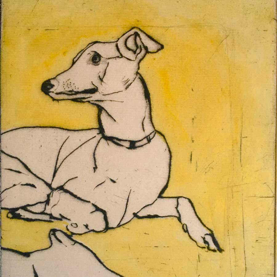 Buy 'Hounds' an original print by Mike Moor at The Biscuit Factory, Newcastle upon Tyne.