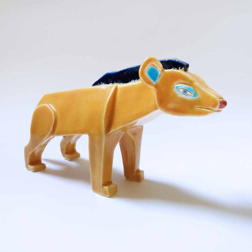 Buy 'Hyena', an original handmade ceramic by Tristan Lathey at The Biscuit Factory.