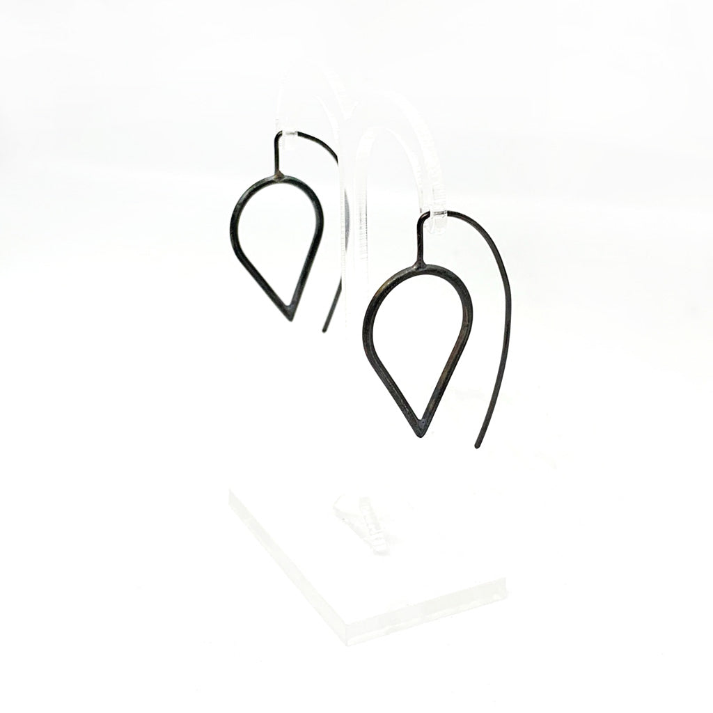 Buy 'Flat Teardrop Earrings' handmade jewellery by Claire Lowe at The Biscuit Factory