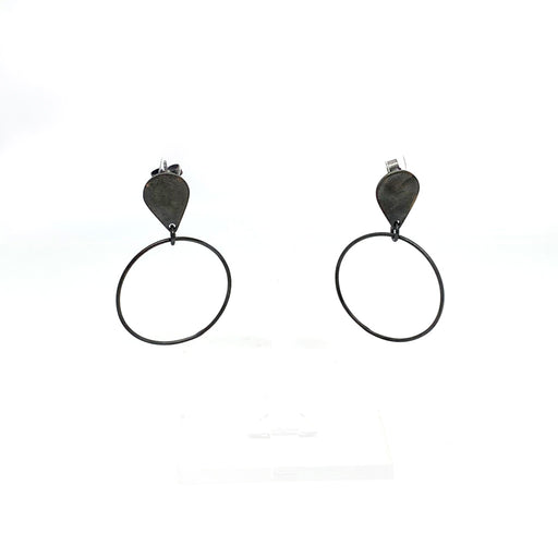 Buy 'Teardrop and Circle Earrings' handmade jewellery by Claire Lowe at The Biscuit Factory