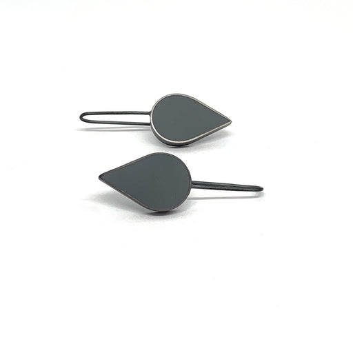 Buy 'Teardrop Earrings (Grey)' handmade jewellery by Claire Lowe at The Biscuit Factory.