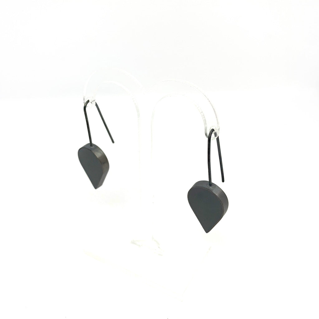 Buy 'Teardrop Earrings (Grey)' handmade jewellery by Claire Lowe at The Biscuit Factory