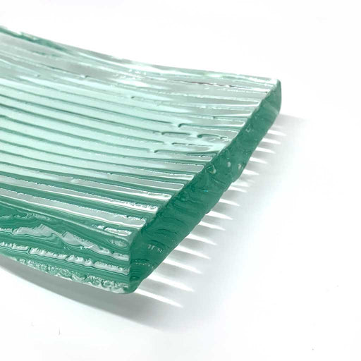 Buy 'Corrugated Soap Dish', handmade glassware by Gavin Marshall at The Biscuit Factory