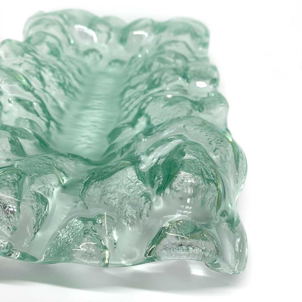 Buy 'Crumpled Dish' handmade glassware by Gavin Marshall at The Biscuit Factory