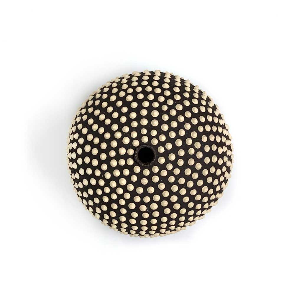 Buy 'Macro Black and White Puffer', handmade ceramic by Fire Dig Pottery at The Biscuit Factory.