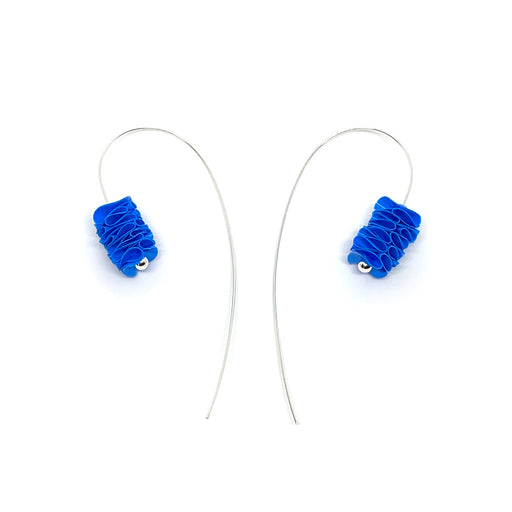 Buy 'Curved Earrings', handmade jewellery made with recycled plastic by Rachel Darbourne at The Biscuit Factory
