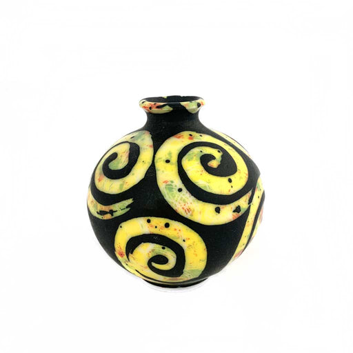 Buy 'Yellow Arabesque Vase' original handmade ceramics by George Ormerod at The Biscuit Factory