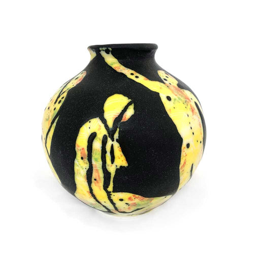 Buy 'Yellow Figurative Vase' original handmade ceramics by George Ormerod at The Biscuit Factory
