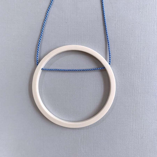 Buy 'Large Hoop Pendant', handmade porcelain jewellery by Elisabeth Barry at The Biscuit Factory, Newcastle upon Tyne