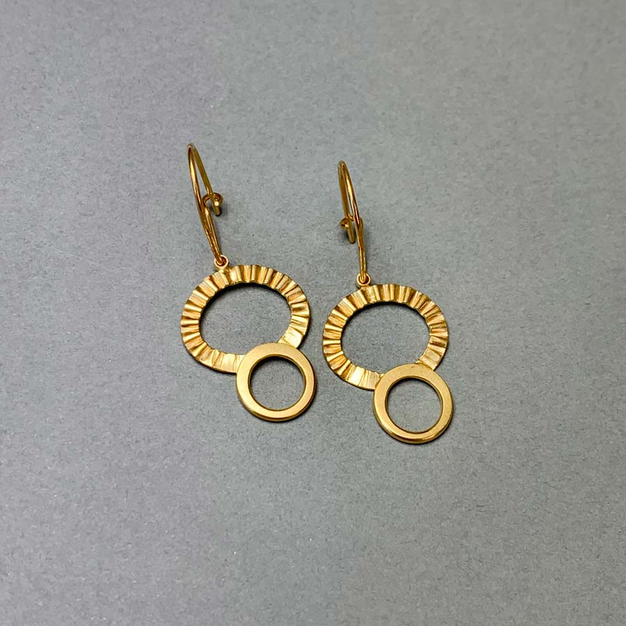 Buy 'Sunray Drop Earrings', handmade jewellery by Clara Breen at The Biscuit Factory, Newcastle upon Tyne.