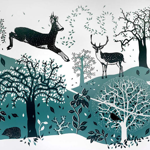 Buy 'Deer', an original handmade print by Folded Forest at The Biscuit Factory.