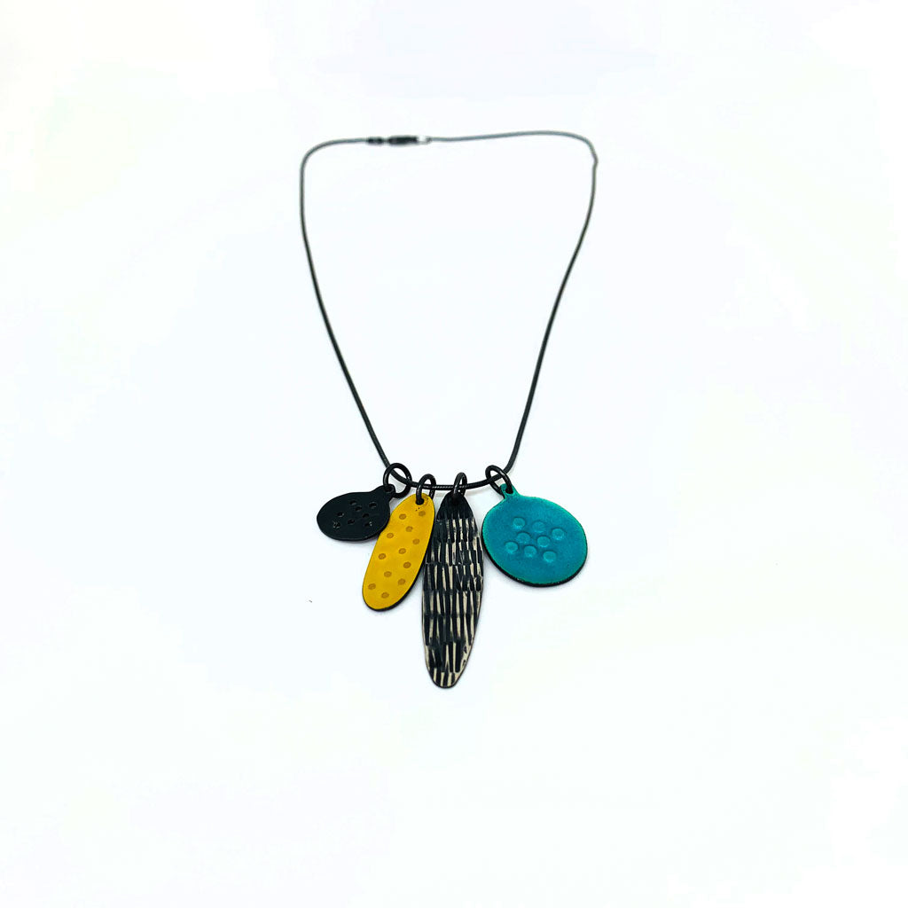 Buy 'Cluster Pendant' handmade jewellery by Caroline Finlay at The Biscuit Factory