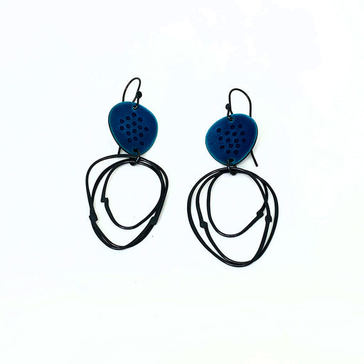 Buy 'Flotsam Earrings (Blue)' handmade jewellery by Caroline Finlay at The Biscuit Factory