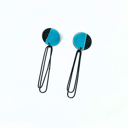Buy 'Beatrice Earrings (Turquoise)' handmade jewellery by Caroline Finlay at The Biscuit Factory