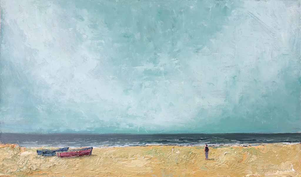 Buy 'Incoming Tide' an original oil painting by Stuart Buchanan at The Biscuit Factory