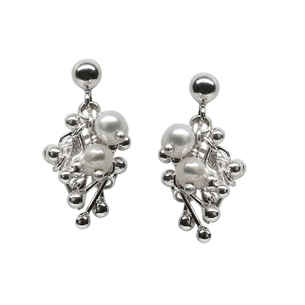Buy 'Pearl Cluster Earrings', handmade jewellery by Yen Jewellery at The Biscuit Factory