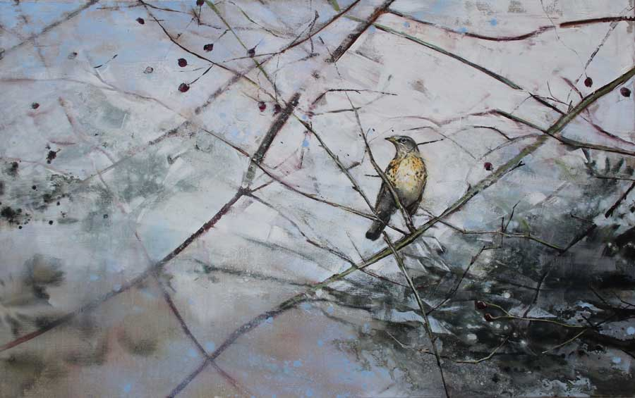 Buy 'Mistle Thrush', an original painting by James Fotheringhame at The Biscuit Factory, Newcastle Upon Tyne.