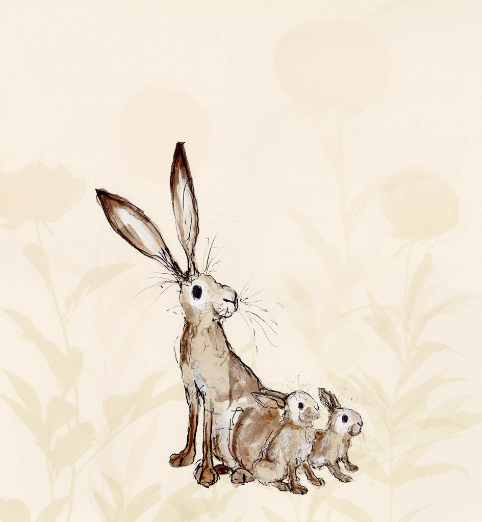 Buy 'Bridget and Glen' an original print by award-winning author and illustrator Catherine Rayner at The Biscuit Factory