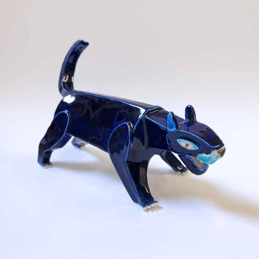 Buy 'Panther', an original handmade ceramic by Tristan Lathey at The Biscuit Factory.