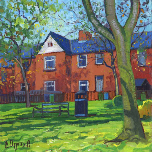 Buy 'Park bench', an original painting by Chris Cyprus at The Biscuit Factory.