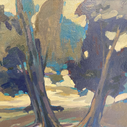 Image shows a cropped section of a painting by Garry Courtnell