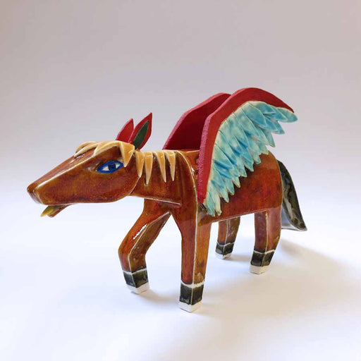 Buy 'Pegasus', an original handmade ceramic by Tristan Lathey at The Biscuit Factory.